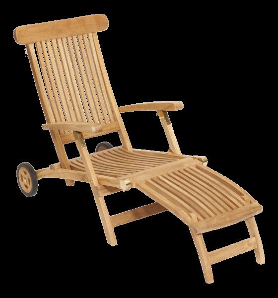 """Deckchair """"Elegance"""" mit Rad"""